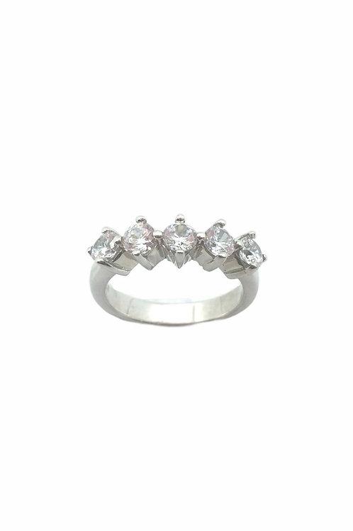 Γυναικείο σειρέ δαχτυλίδι με πέτρες