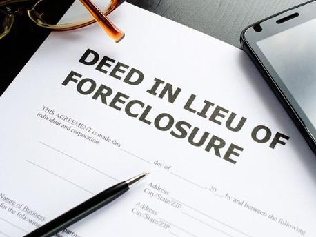 DEED IN LIEU- How it works