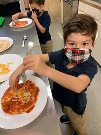 Milo & Tatum - Pizza making.JPG