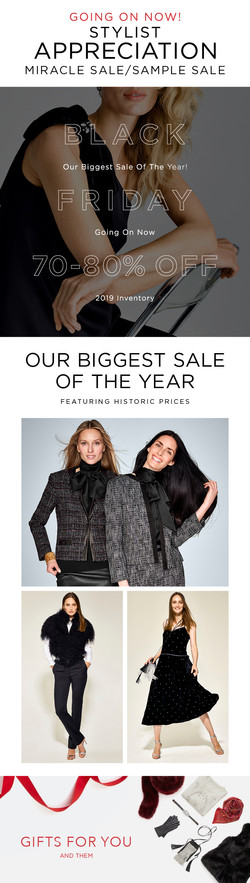 stylist sale email bf
