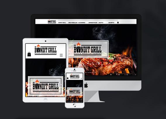 Website voor Bandit Grill