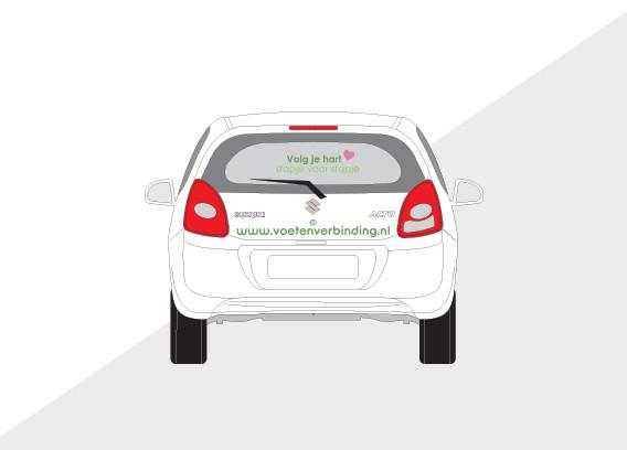 Auto belettering Voet & Verbinding
