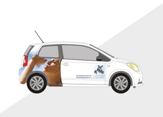 Auto belettering water leverancier
