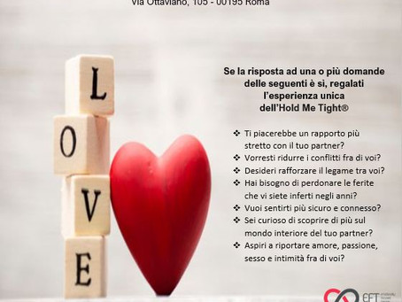 workshop per coppie Hold Me Tight®