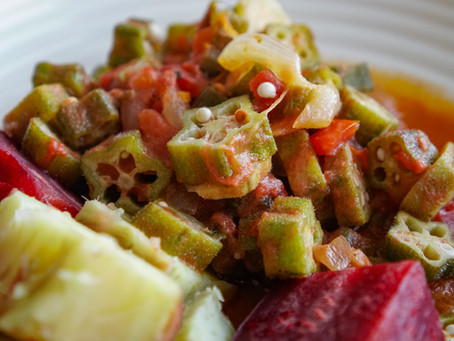 Sauteed Okra in Tomato Coconut Sauce - 20 minutes