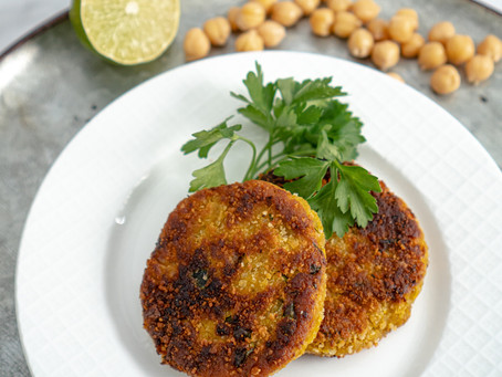 Chick Pea + Pumpkin Fritters