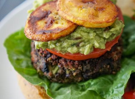 Bomb Black Bean-Portabella Mushroom Burgers - 45 minutes (serves 8)