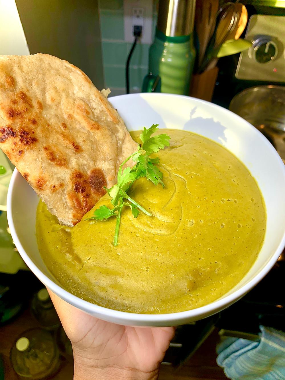 Mung Bean Coconut Asparagus Soup
