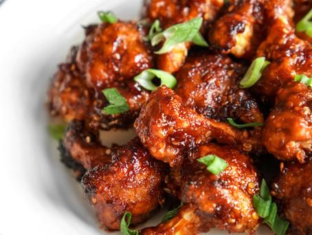 Crispy & Sweet Sesame Cauliflower Bites - 45 minutes