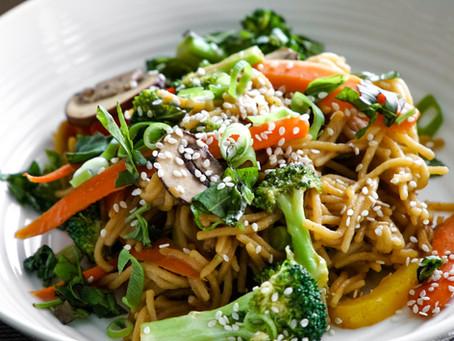 Sweet Sesame Garlic Noodles - 20 minutes