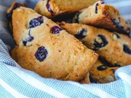 Vegan Blueberry Scones-30 minutes