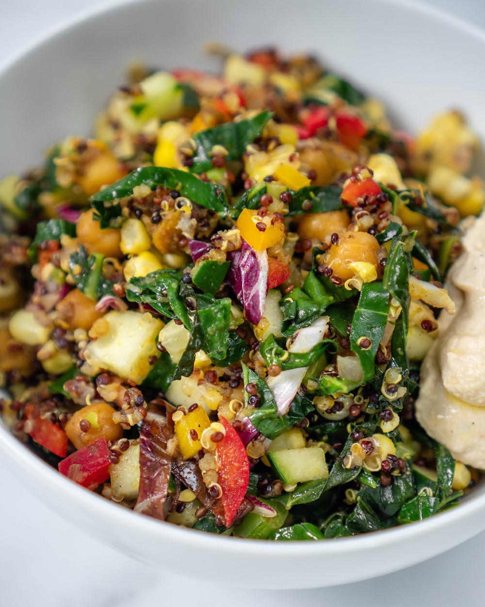 Ayurvedic Jamaican Steamed Quinoa Salad