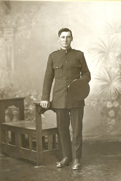 Sam Chalwell wearing Salvation Army uniform, from Irene Stokes