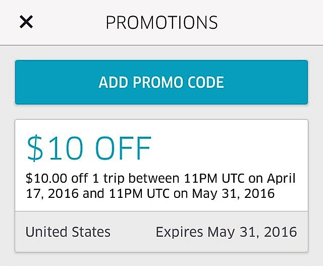 Free $10 From Uber