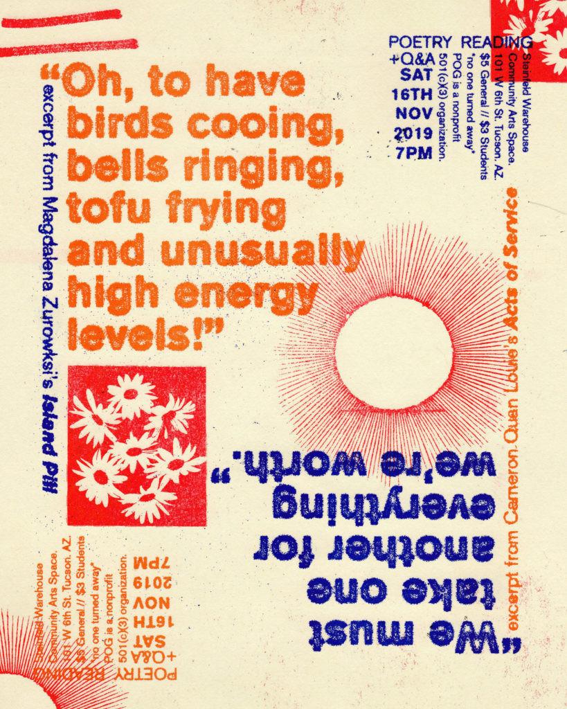 MAGDALENA ZURAWSKI and CAMERON QUAN LOUIE poetry POG Tucson