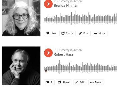Hear/Heard/Here: Robert Hass & Brenda Hillman on SoundCloud