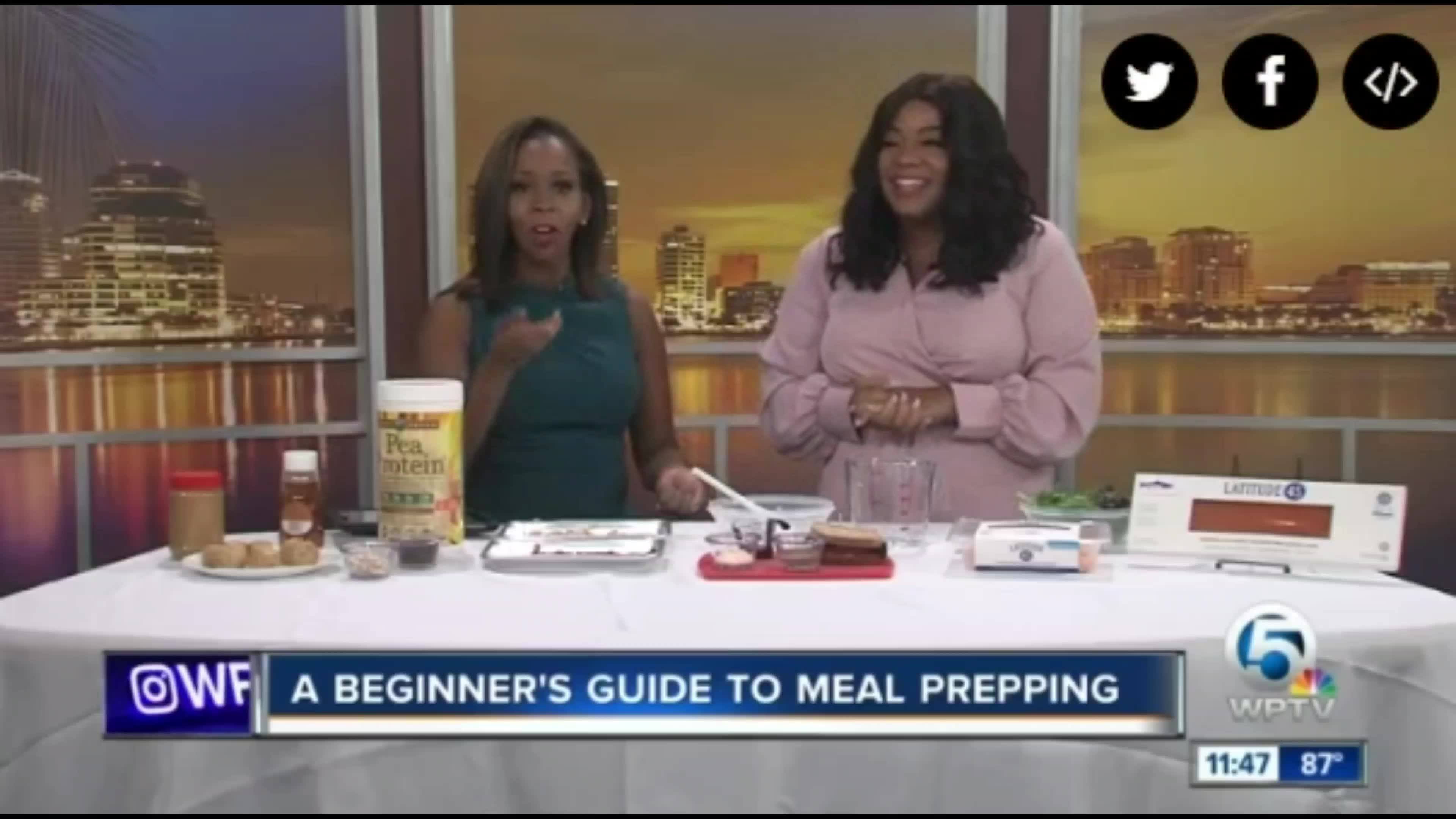 Ashley Chennel Shares How to properly Meal Prep for the Week with WPTV ! West Palm!
