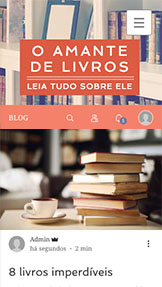 Arte e Cultura website templates – Blog de Literatura
