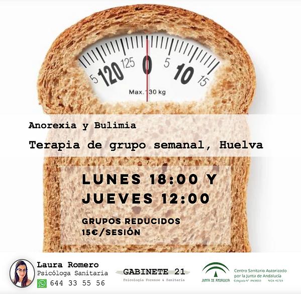 Terapia grupal anorexia y bulimia alimentacion huelva