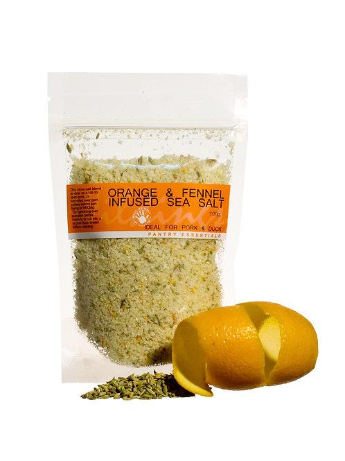 Orange & Fennel Infused Sea Salt 100g