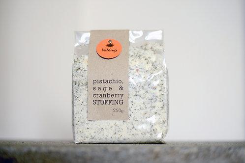 Pistachio, Sage + Cranberry Sourdough Stuffing