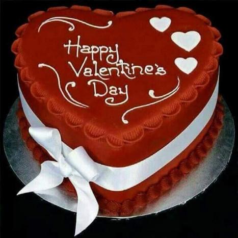 Red Velvet Valentine's Day Cake