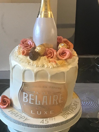 Belaire Champagne Cake