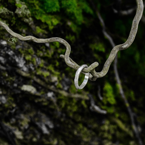 Aliança Caminhos Fina de Prata