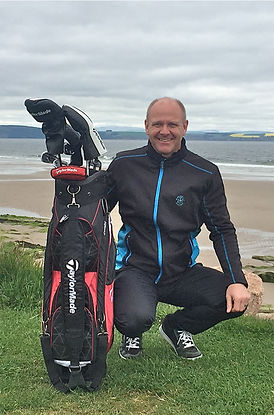 Murray Urquhart at Nairn Golf Club on th Moray Firth