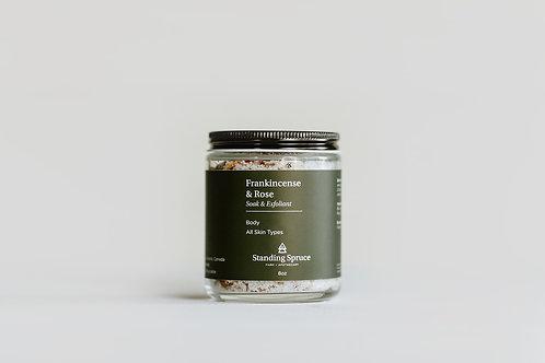 Frankincense & Rose, Soak & Exfoliant | 8oz