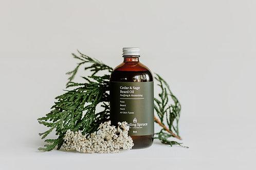 Cedar & Sage Beard Oil | 8oz (250ml)
