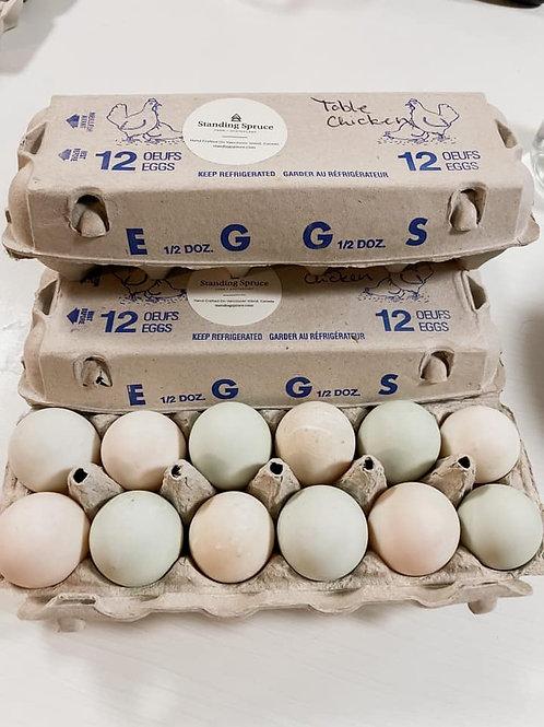 1 Dozen Table Eggs