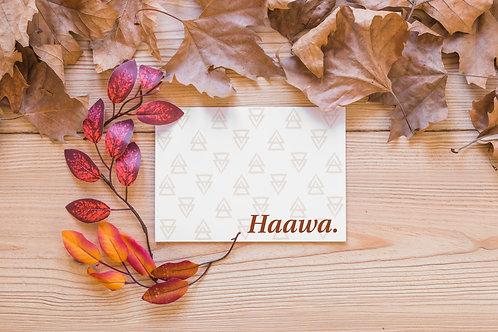 Haawa (Thank You) - Card