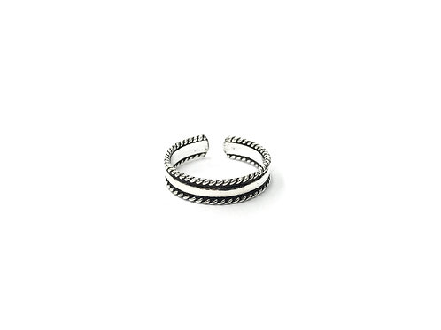 Twist edge toe ring (#7321-66)