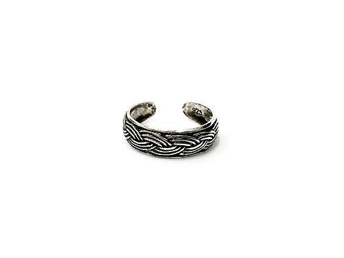 Braid pattern toe ring (#7321-2)