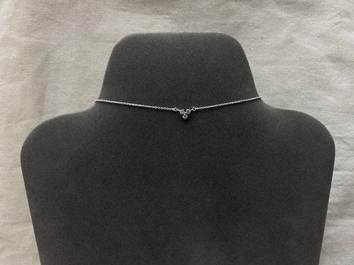 3-triangular crystal necklace (#N091)