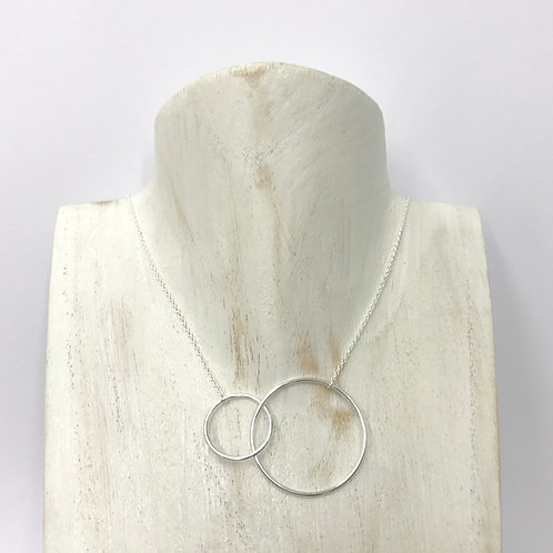 Double circle necklace (#N044)