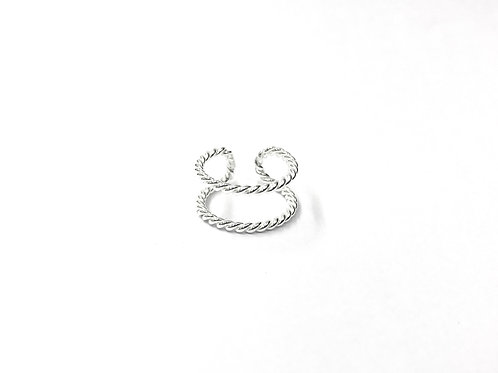 Parallel twisted toe ring (#7321-49)