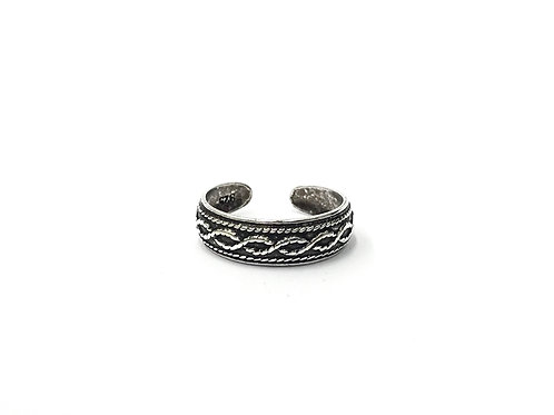 Twisted pattern toe ring (#7321-10)