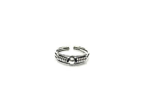1-ball bali style toe ring (#7321-32)