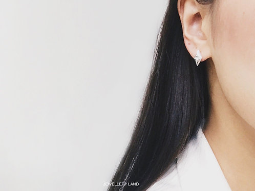 Up down tri-stud earring