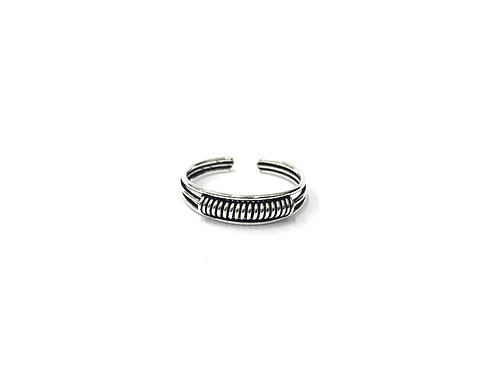 Twisted bali style toe ring (#7321-28)