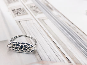 sterling silver turtle back ring