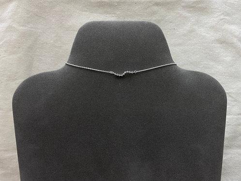 9 wavy crystal necklace (#N088)