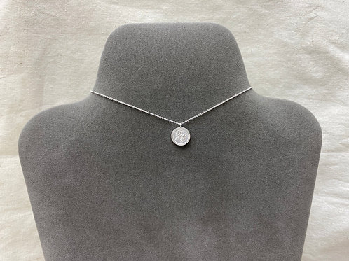 13mm rose coin necklace (#A1420N)