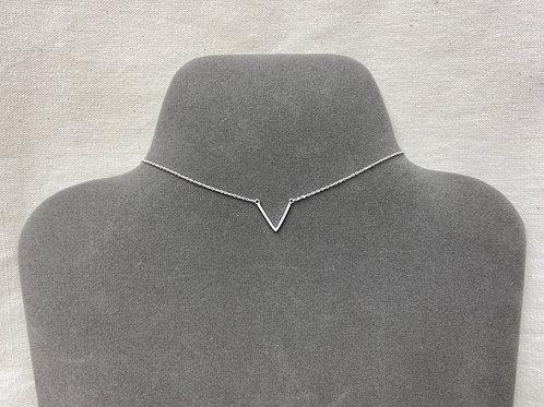 Satin V-shape necklace (#N043/SC)