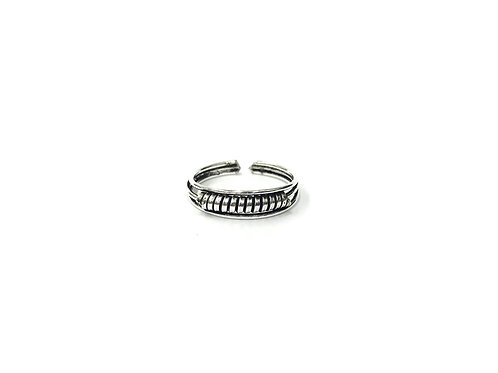 Twisted bali style toe ring (#7321-29)