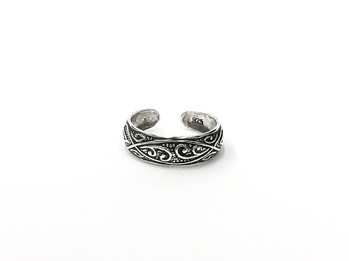 Curly pattern toe ring (#7321-6)