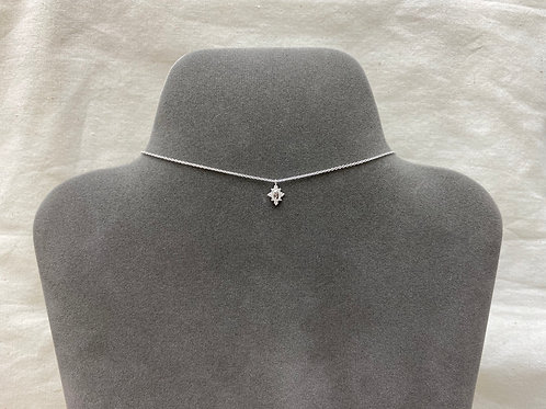 Oval dotted pendant necklace (#A1439N)