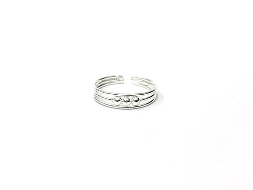 3-identical ball on 3-wire toe ring (#7321-26)